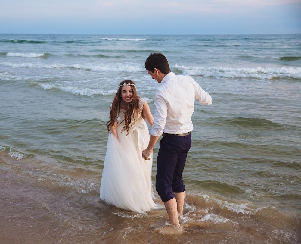 Brudepar til fotosession