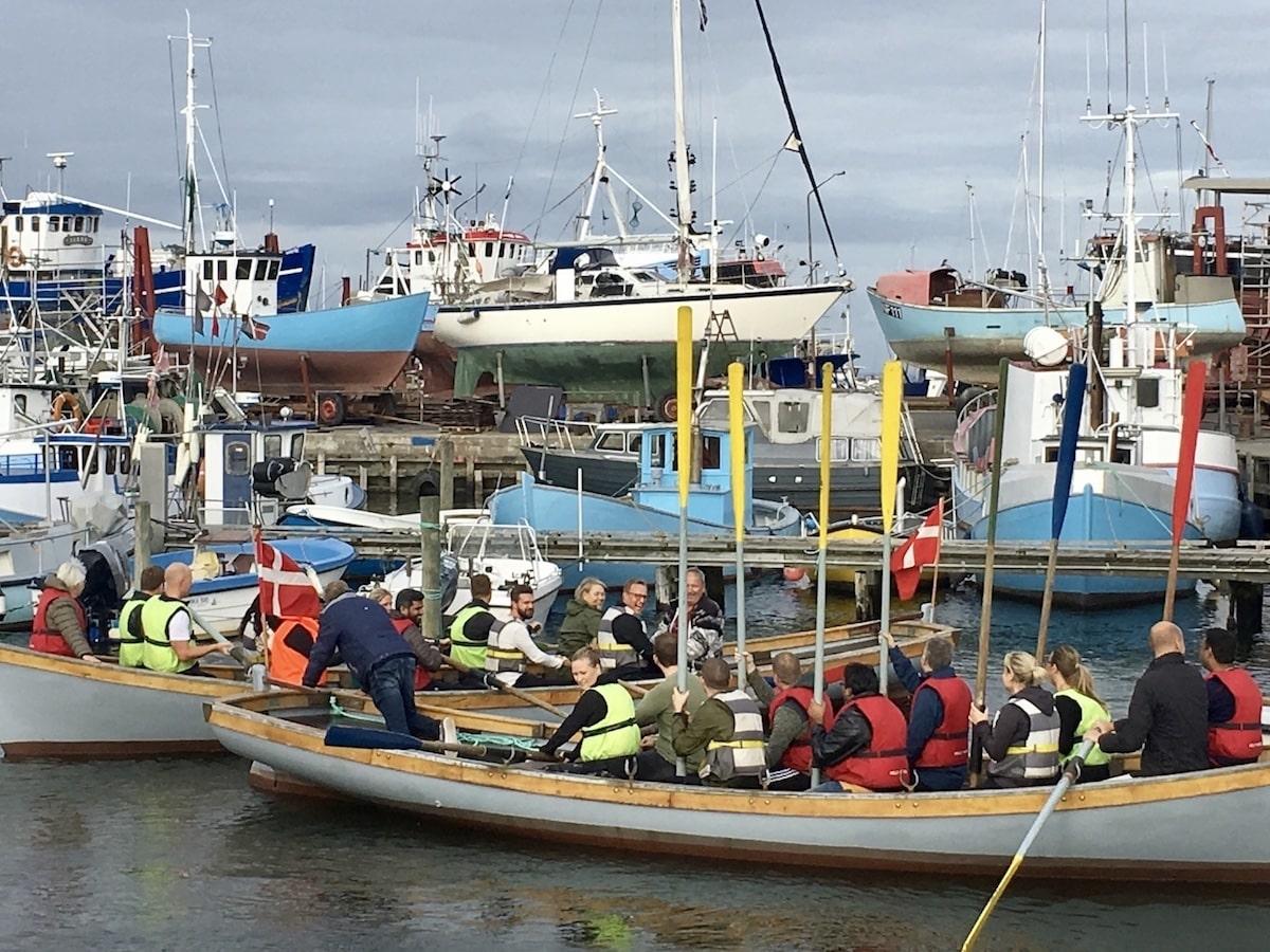 Travalje roning i havnen i Gilleleje
